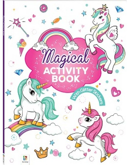 Activity Book with Glitter Stickers : Magical