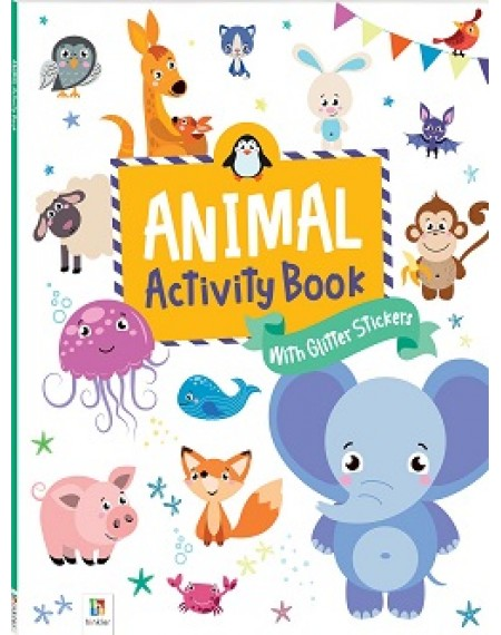 Activity Book with Glitter Stickers : Animal