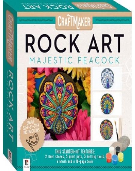 Craft Maker Rock Art Mini Kit: Majestic Peacock