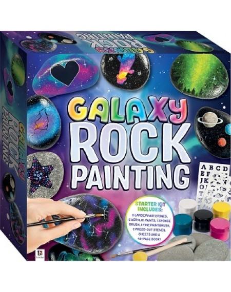 Galaxy Rock Painting