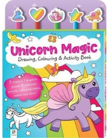5 Pencil set : Unicorn Magic Drawing, Colouring & Activity Book