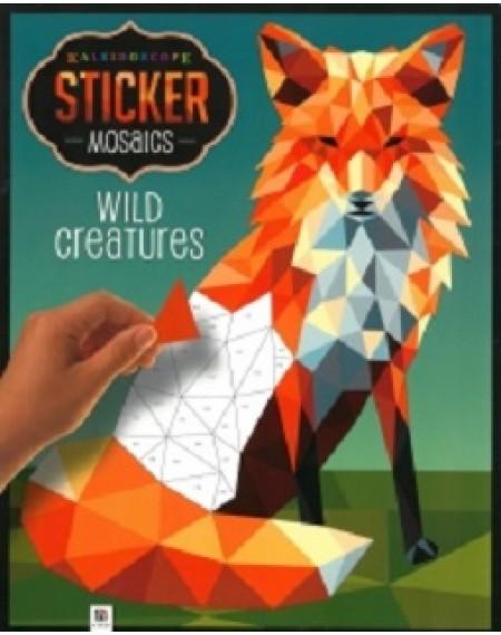 Kaleidoscope Sticker Mosaics: Wild Creatures