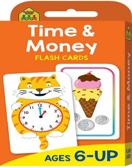 School Zone Flash Cards Time & Money