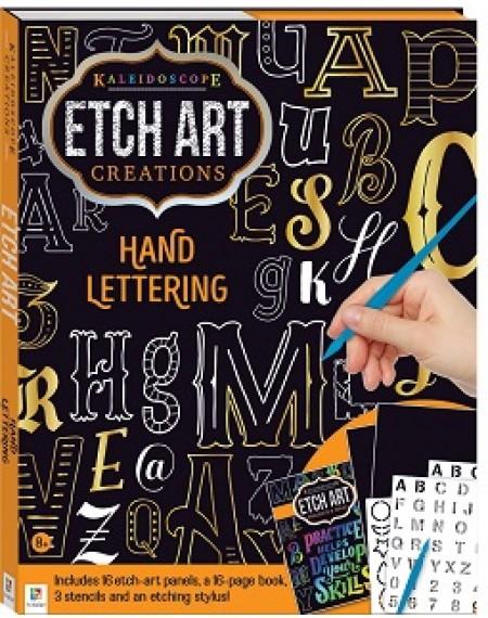 Kaleidoscope Etch Art Creations Lettering