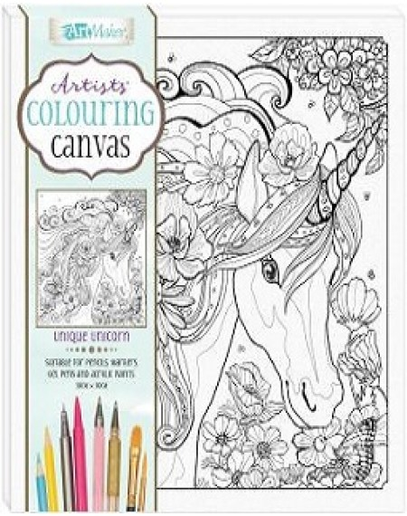 Artists' Colouring Canvas: Unique Unicorn