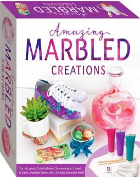 Amazing Marbled Creations Tuck Box