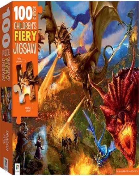 100 Piece Children's Jigsaw  : Fiery Dragon Fire