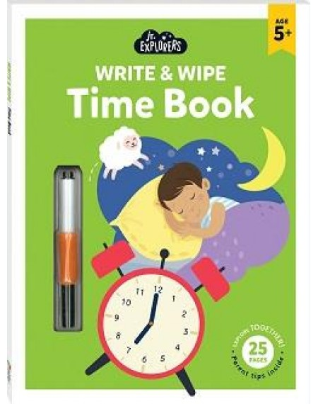 Junior Explorers Write and Wipe: Time Book