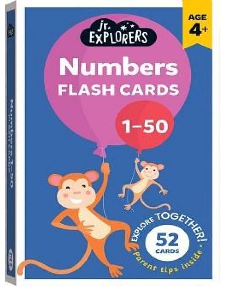 Junior Explorers Flashcards: Numbers 1-50