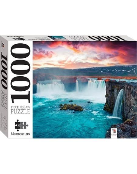 1000 Piece Jigsaw Puzzles : Godafoss Waterfall, Iceland