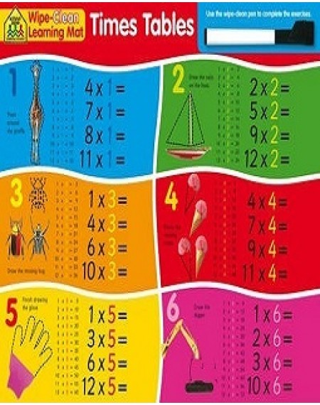 Learning Mat: Times Tables Wipe-Clean