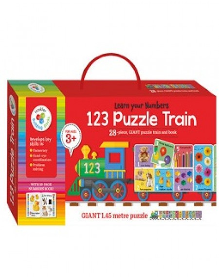 Building Blocks Puzzle Train Bright and Bold : 123