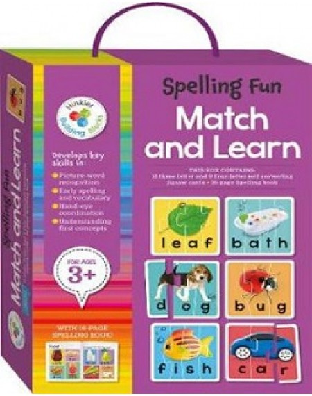 Building Blocks Bright and Bold Match & Learn Cards : Spelling Fun