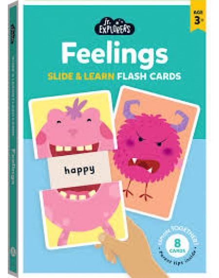Junior Explorers Slide and Learn Flashcards: Feelings