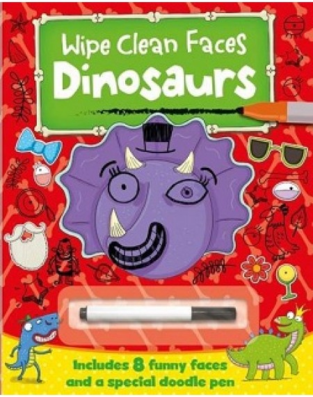 Dinosaurs Wipe Clean Faces