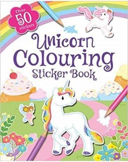 Colouring Sticker Book Unicorn