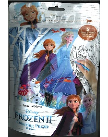 Frozen II Colouring Puzzle (w Olaf)