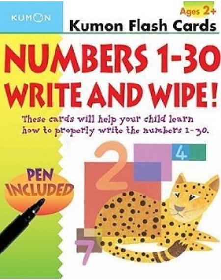 Flash Cards : Number 1-30 write and wipe