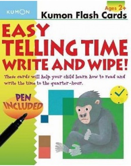 Flash Cards : Easy Telling Time Write & Wipe