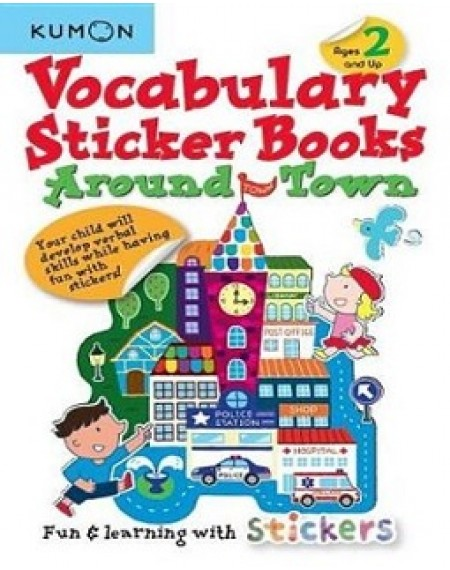 Around Town Vocabulary Sticker Books