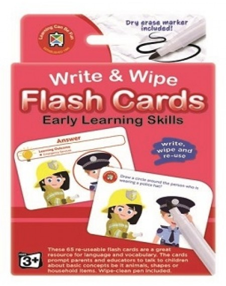 Flash Cards Write & Wipe Early Learning Skills w/m