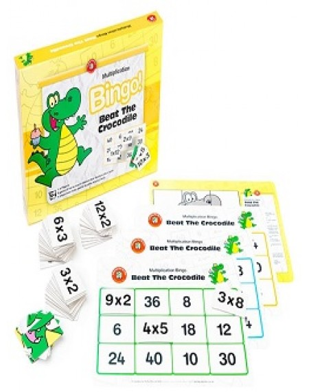 Beat the Crocodile (Multiplication) Bingo