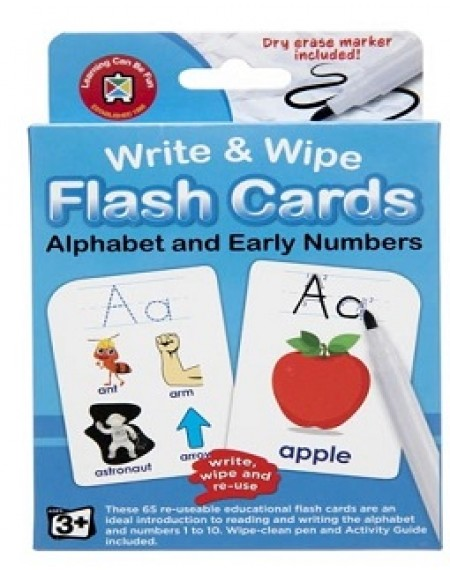 Alphabet Write and Wipe Flashcard with Marker