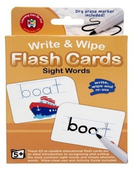 Sight Word Write & Wipe Flashcards with Marker
