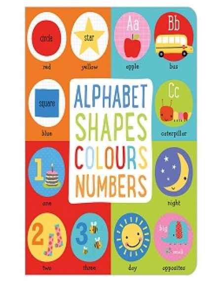 Board Book Alphabet, Shapes, Colours, Numbers