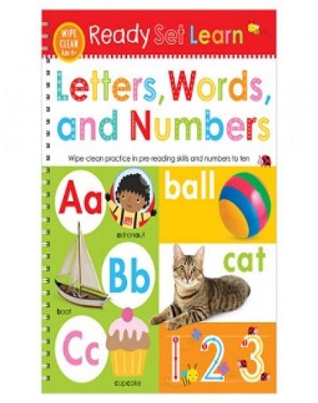 Ready Set Learn Wipe Clean : Letters Words