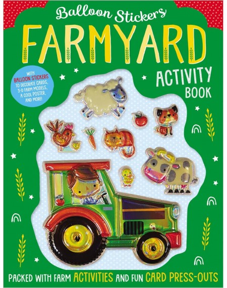 Balloon Sticker Activity Book : Farmyard