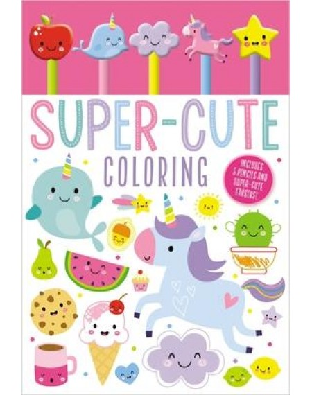 5 Pencil Eraser Set : Super Cute Colouring