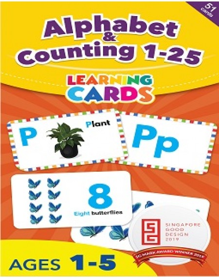 Alphabet & Counting 1-25 Learning Cards