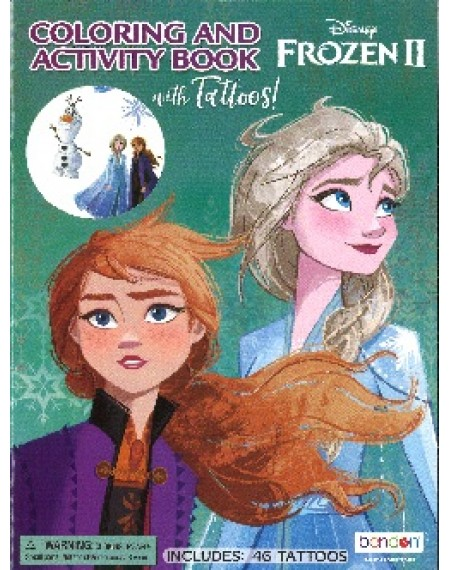 Color And Activity Book With Tattoos : Frozen 2