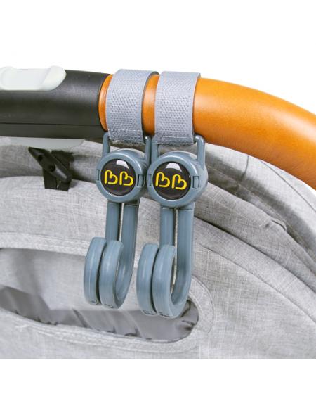 BB70167 - Bonbijou Double Stroller Hook (GREY) *EXCLUSIVELY @ PARAGON*