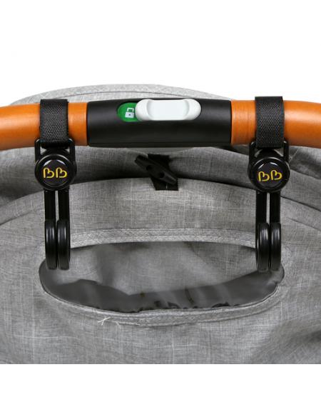 BB70166 - Bonbijou Double Stroller Hook (BLACK) *EXCLUSIVELY @ PARAGON*