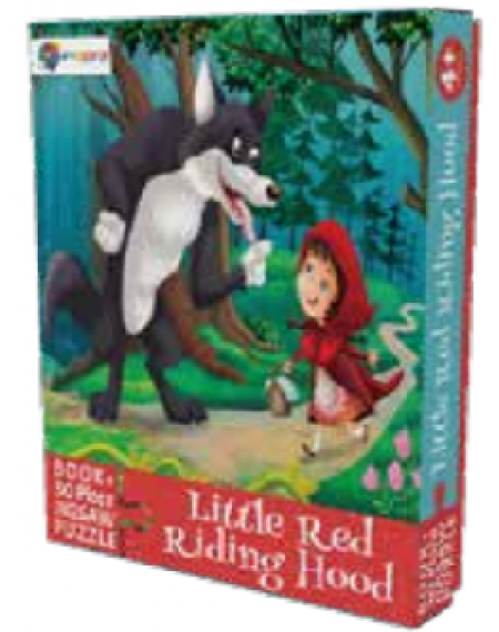 Book And 30 Piece Jigsaw Puzzle : Little Red Riding Hood