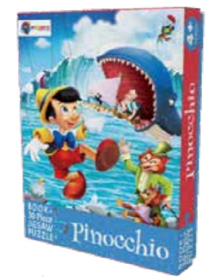 Book And 30 Piece Jigsaw Puzzle : Pinocchio