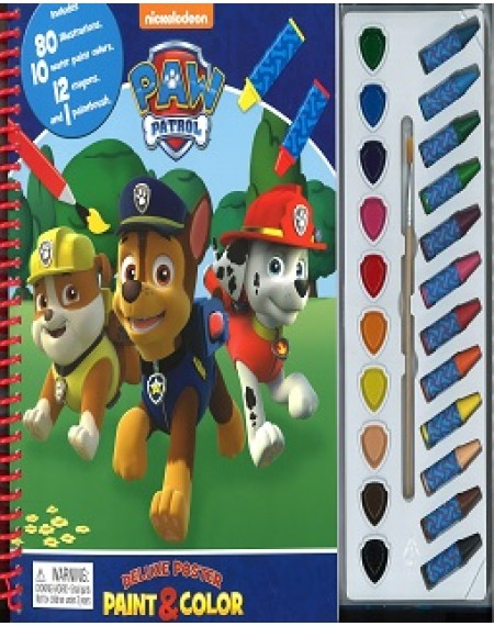 Deluxe Poster Paint& Colour: Paw Patrol