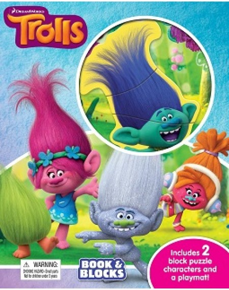 Book And Block : Dreamworks Trolls