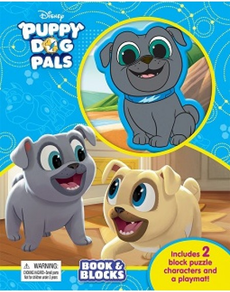 Book And Block : Disney Jr Puppy Dog Pals