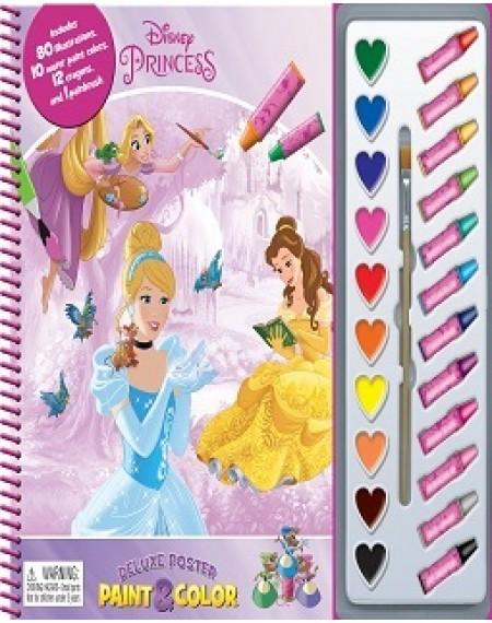 Deluxe Poster Paint And Crayon Assort : Disney Princess