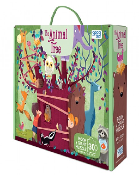 GIANT PUZZLE AND BOOK - THE ANIMAL TREE