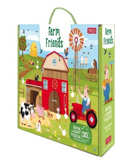 GIANT PUZZLE AND BOOK - FARM FRIENDS
