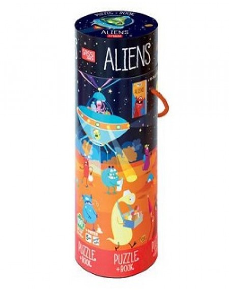 Book And Giant Puzzle : Aliens