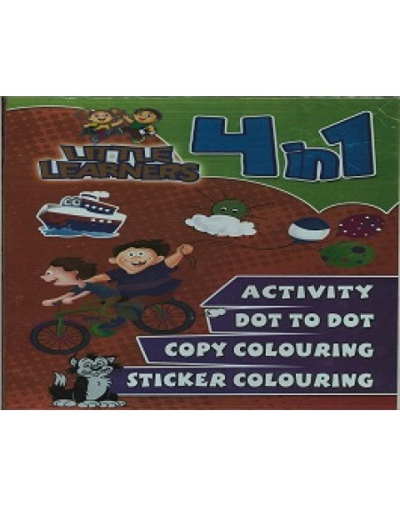 4 in 1 Little Learners Colouring And Activity Book