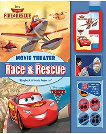 Movie Theater Storybook & Movie Projector : Disney Race And Rescue