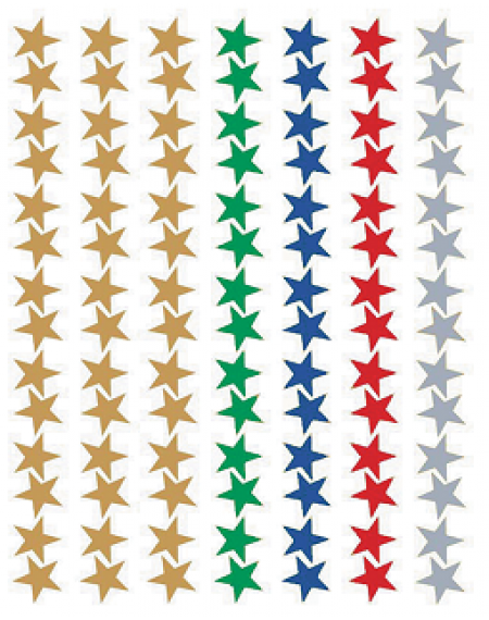 Stickers : Assorted Star Foil