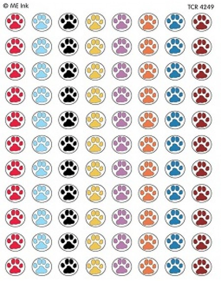 Puppy Paw Prints Mni Stickers