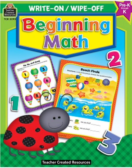 Beginning Math Write-On/Wipe-Off Workbook